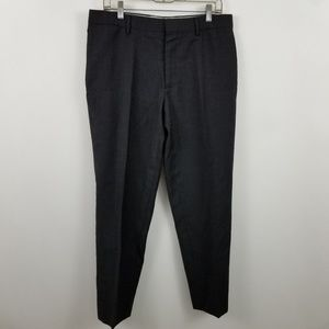 Banana Republic Classic Fit Flat Front Charcoal